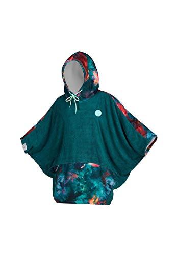 Mystic Womens Poncho oder Wickeltuch für Strand Wassersport & Surfen - Robe wechseln - Teal - Große Falthaube