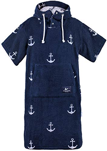 Atlantic Shore | Surf poncho, Anchor Navy Blue, Long