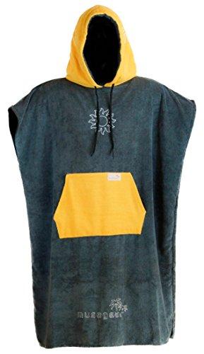 musegear Surf Poncho Erwachsene - Mobile Umkleide - one Size- orange/anthrazit–Umkleidehilfe und kuscheligerBademantel - Modisch und nützlich