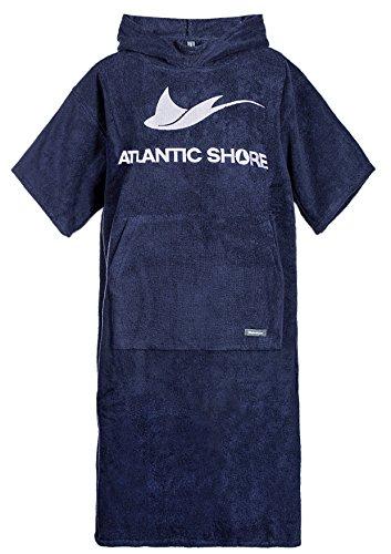 Atlantic Shore | Surf Poncho ➤ Bademantel/Umziehhilfe aus hochwertiger Baumwolle ➤ Navy Blue - Middle