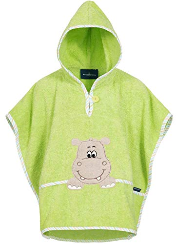 Morgenstern Badeponcho Kinder Baumwolle Baby Poncho aus Frottee mit Kapuze