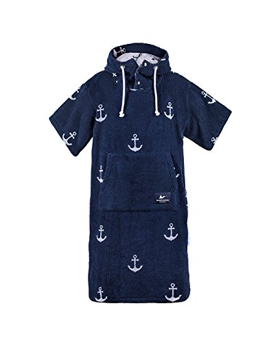 Atlantic Shore Surf Poncho Anchor, Navy Blue - M