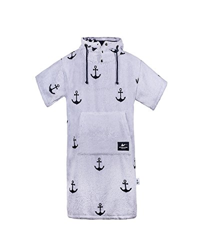 Atlantic Shore | Surf Poncho ➤ Bademantel/Umziehhilfe aus hochwertiger Baumwolle ➤ Limited Anchor Edition ➤ Offshore White - Middle