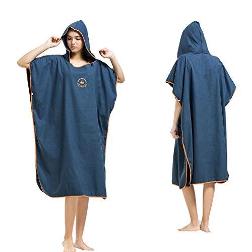 Hiturbo Handtuch Poncho Mikrofaser Andern Sie Robe,Surfen Wechseln Handtuch Robe Mit Kapuze,Schwimmen Schnorchel Strand Poncho