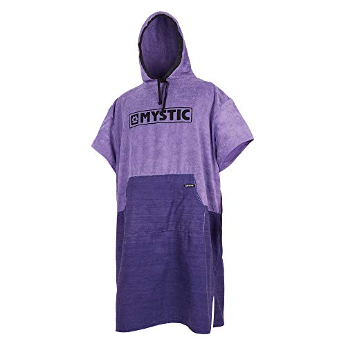 Mystic Poncho oder Wickeltuch für Strand Wassersport & Surfen - Regular Purple - Unisex - Große Kängurutasche