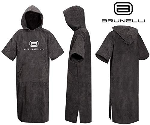 Brunelli Poncho Überzieher Bademantel Handtuch Schwimmen Kite Surfen Black