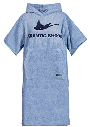 Atlantic Shore | Surf Poncho ➤ Bademantel/Umziehhilfe aus hochwertiger Baumwolle ➤ Light Blue - Middle